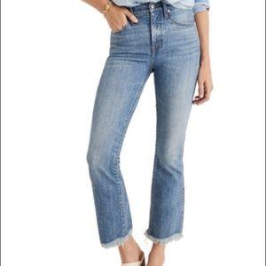 Madewell 23Tall Cali Demi-Boot Jeans Chewed Hem